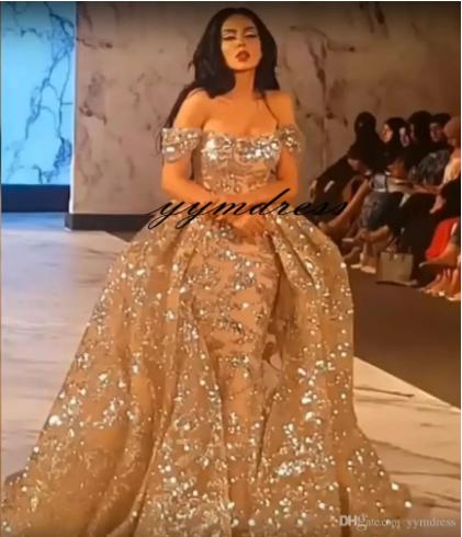 Evening Dresses 2019 Yousef Aljasmi Dubai Arabic Bling Bling
