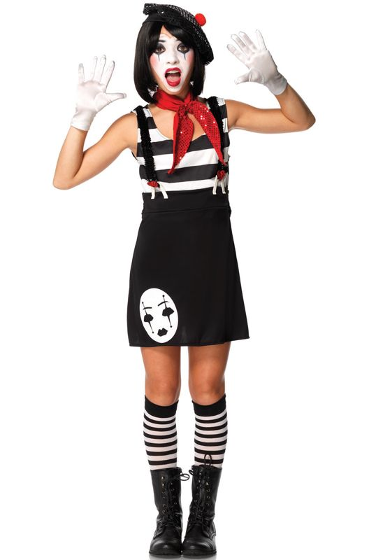 Check out the deal on Miss Mime Teen Costume - FREE ...