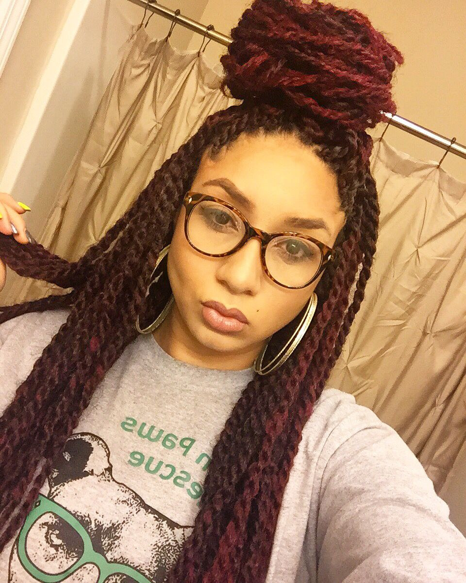 Red Marley twists | Natural hair styles, Hair styles ...