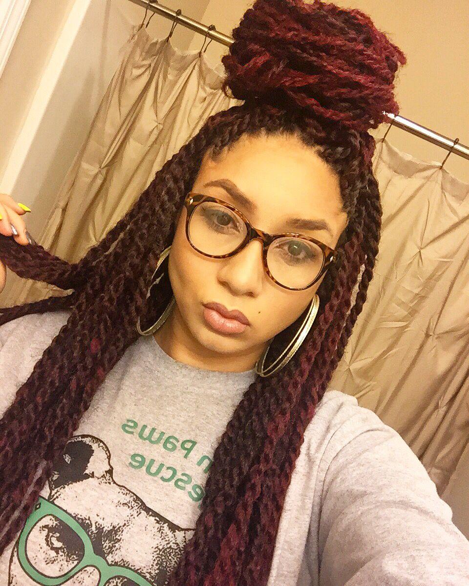 Marley Hairstyles: Red Marley Twists