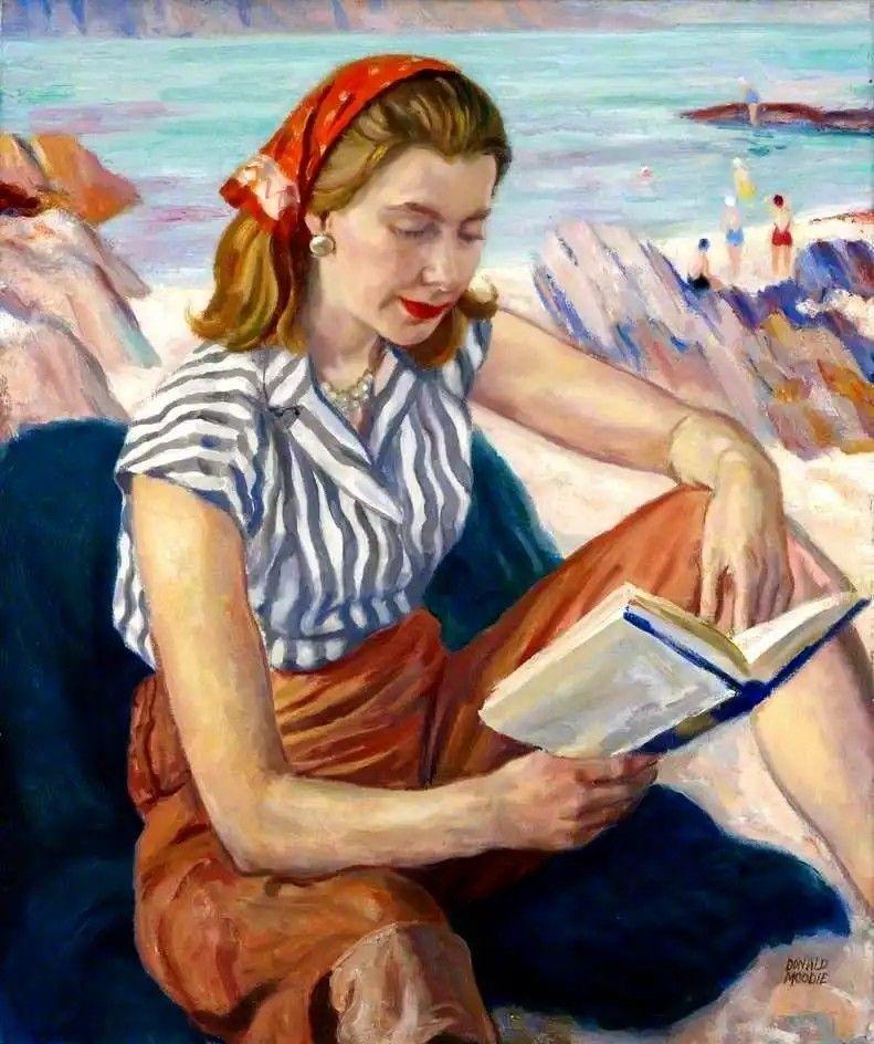 Verano (c.1958).Donald Moodie (británica, 1892-1963).Óleo sobre lienzo.Real Academia Escocesa de Arte y Arquitectura.