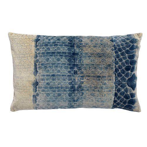 Kussenhoes 40 X 65.Nordal Tie Dye Kussenhoes 40 X 65 Cm Blauw Wit Homebird