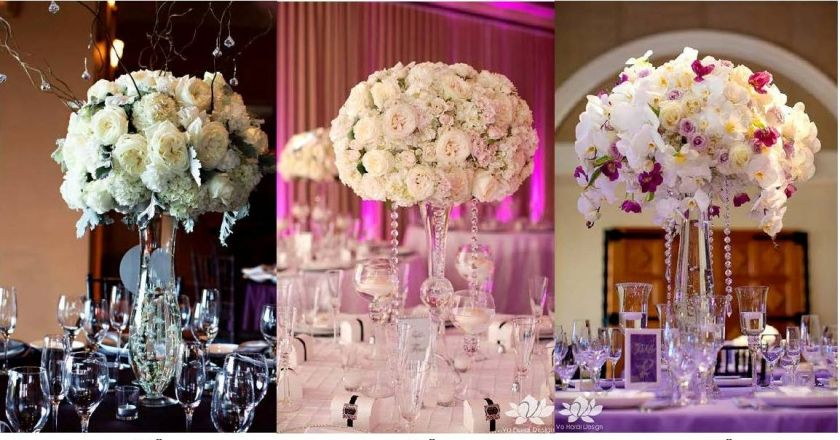 Tall Fl Centerpieces For Tables Requested Lush And How Much Flowers Are In