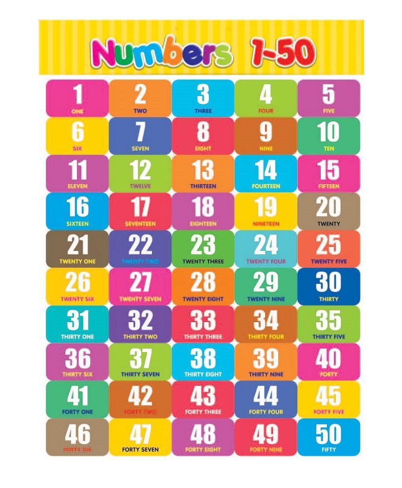 50 number chart for kids   K5 Worksheet   Alphabet and ...