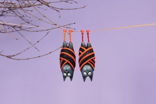 Patience Brewster Krinkles 2 Bart and Beatrice Bat Ornament
