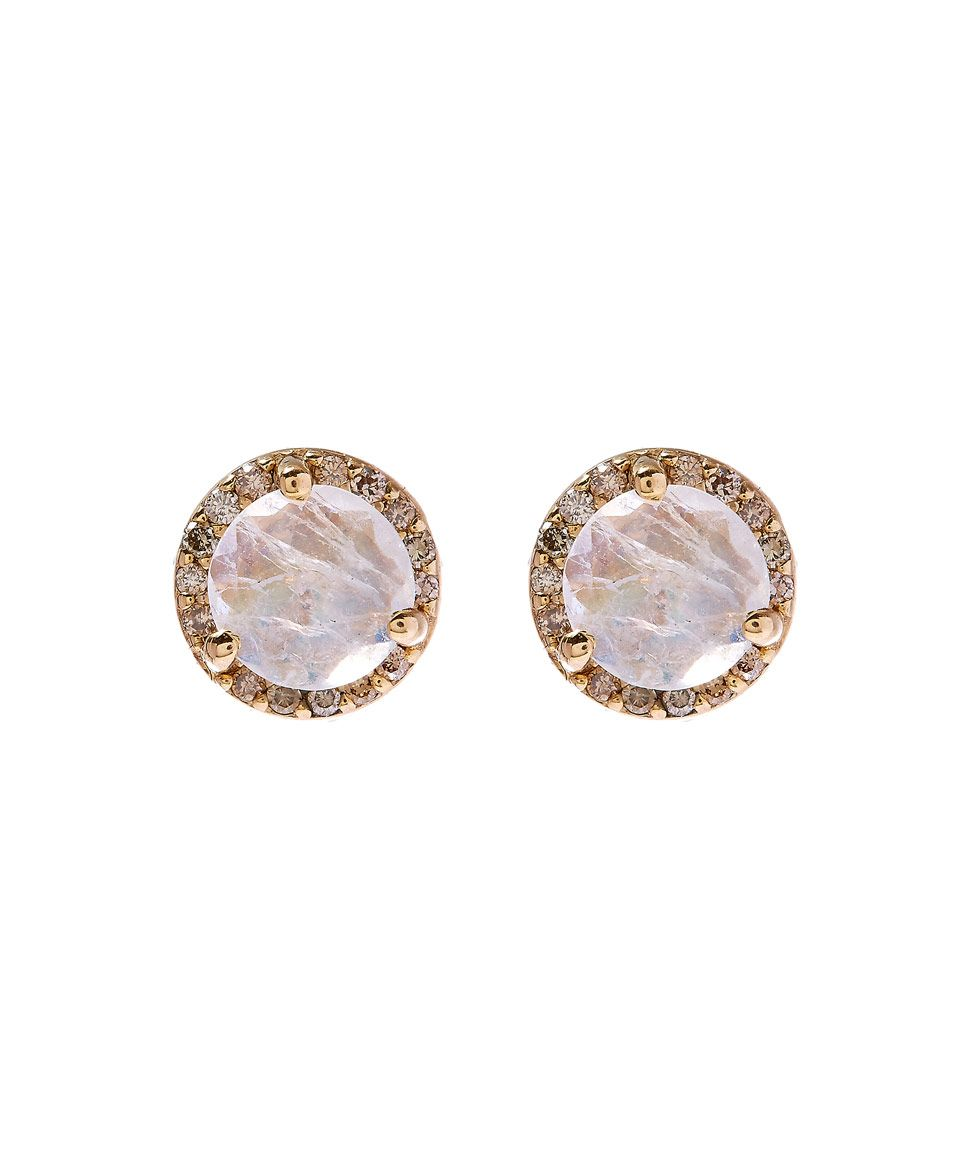 Anna Sheffield Gold Rainbow Moonstone Rosette Stud Earrings Accessories Liberty Co Uk