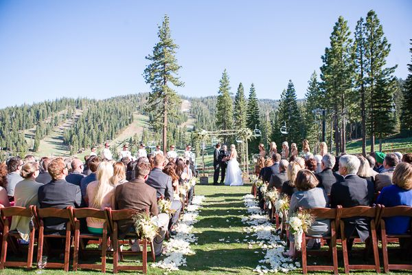 Ritz Carlton Lake Tahoe Wedding Ceremony
