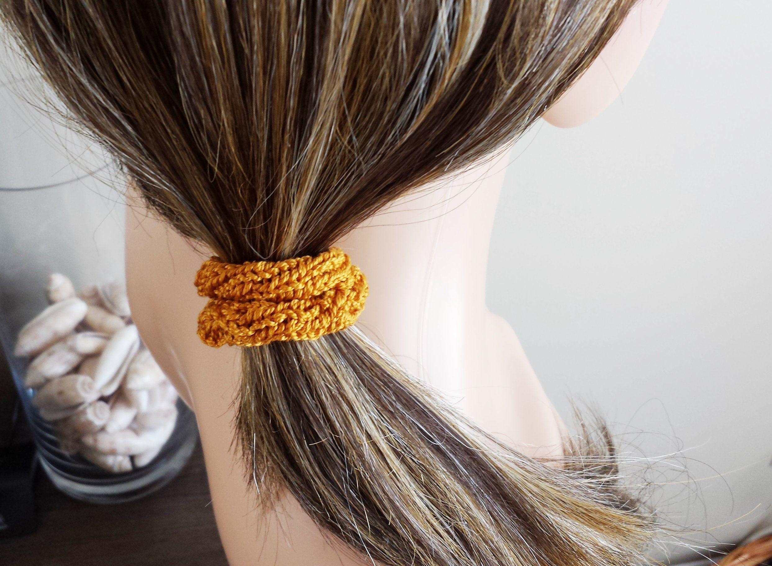 Élastique à cheveux brun élastique coton brun élastique