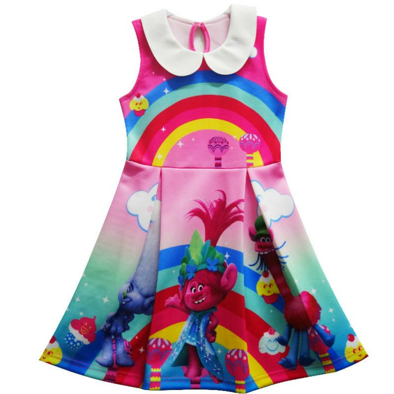 2017 Trolls Dress Children Clothing Summer Girl Dresses Girls Baby Costume  Princess Clothes Kid Casual Clothes c61b133a3874