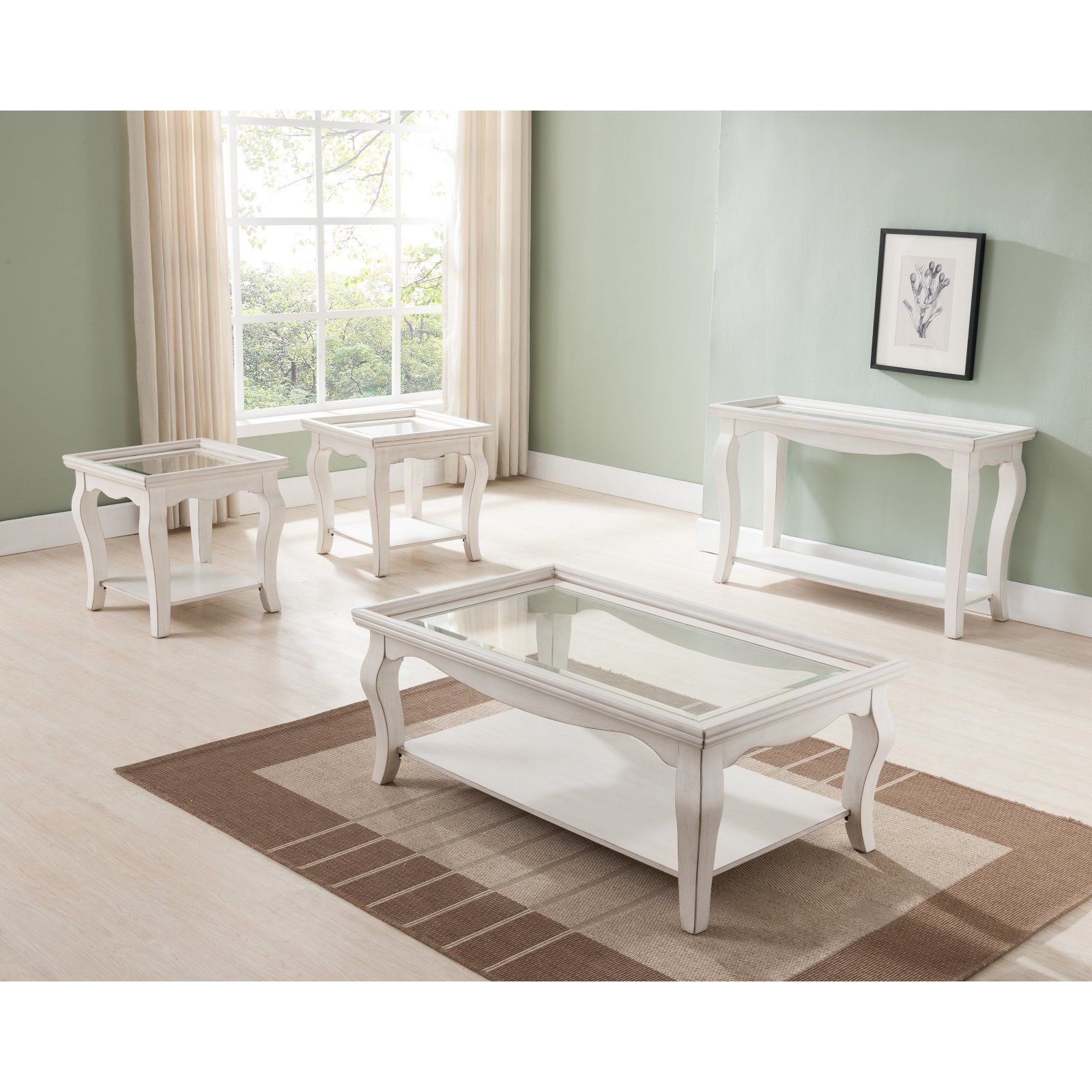 Simmons Casegoods Buttermilk White Cocktail Table Walmart Com White Cocktail Tables Coffee Table 3 Piece Coffee Table Set [ 1600 x 1600 Pixel ]
