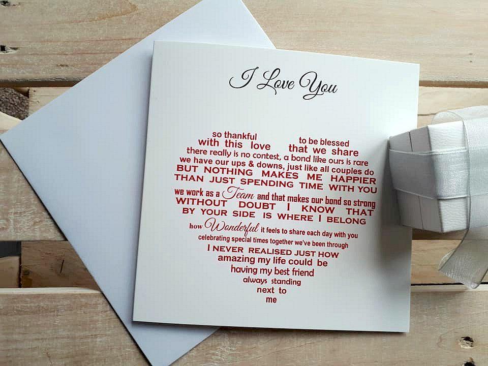 Husband Birthday Card Sentimental Anniversary Card Valentines Card Boyfriend Card Fiance Card Wife Anniversary Girlfriend Birthday Anniversary Cards For Husband Cards For Boyfriend Fiance Valentines Card