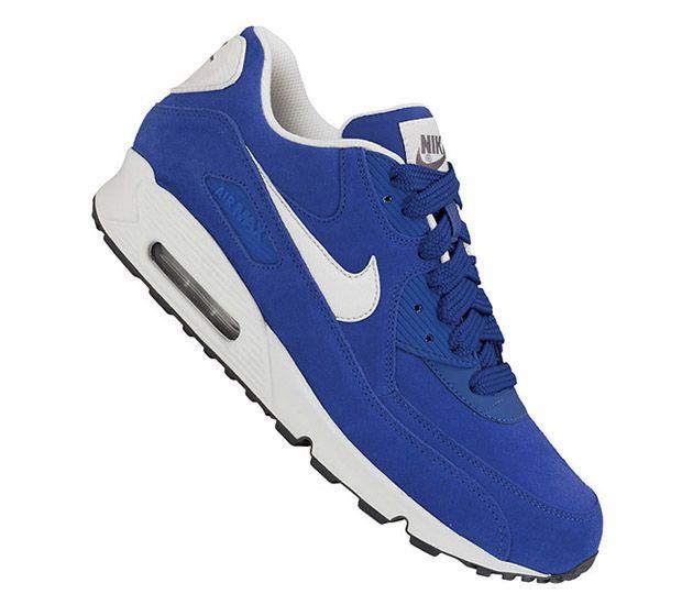 22de15aa83 Nike Air Max 90 Essential – Hyper Blue Suede   Sneakers