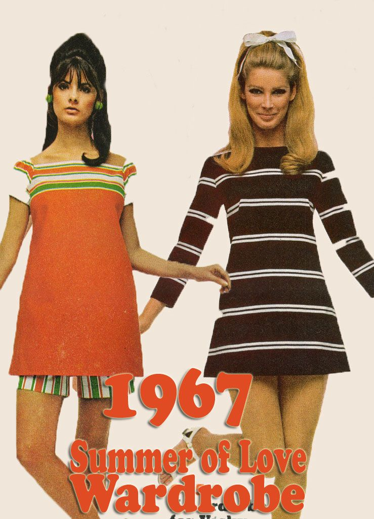 78cbd7543a4 1967 Summer of Love Wardrobe Inspiration | Vintage Clothing Fashion ...