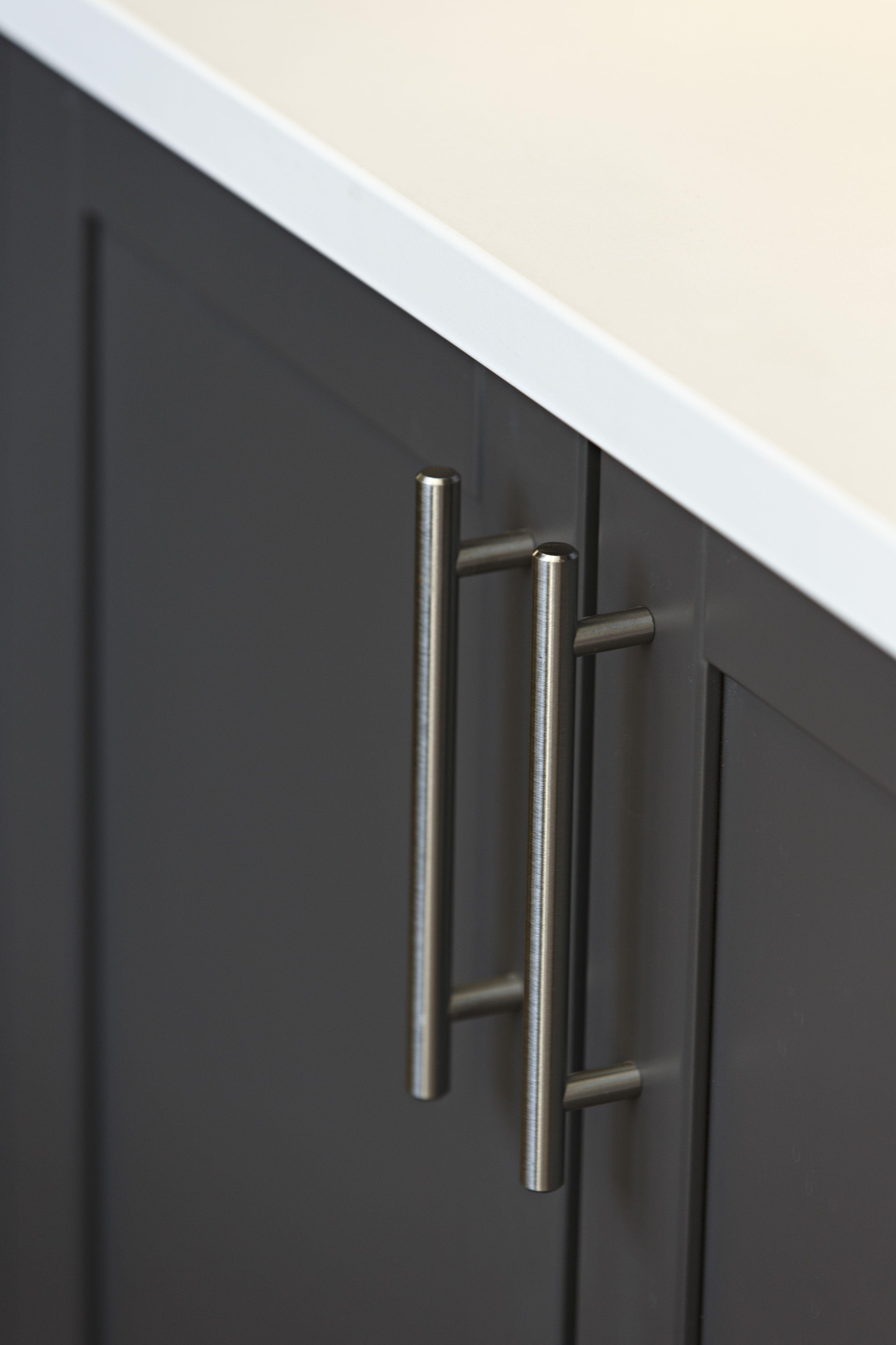 Brushed nickle hardware cabinet finishes | Claridge Homes Design ...