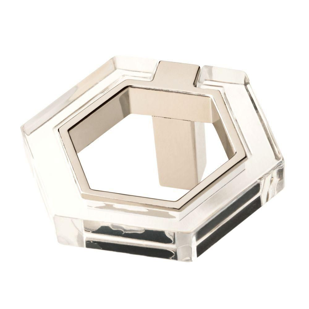 Liberty 1-7/8 in. Polished Nickel and Clear Acrylic Hexagon ...