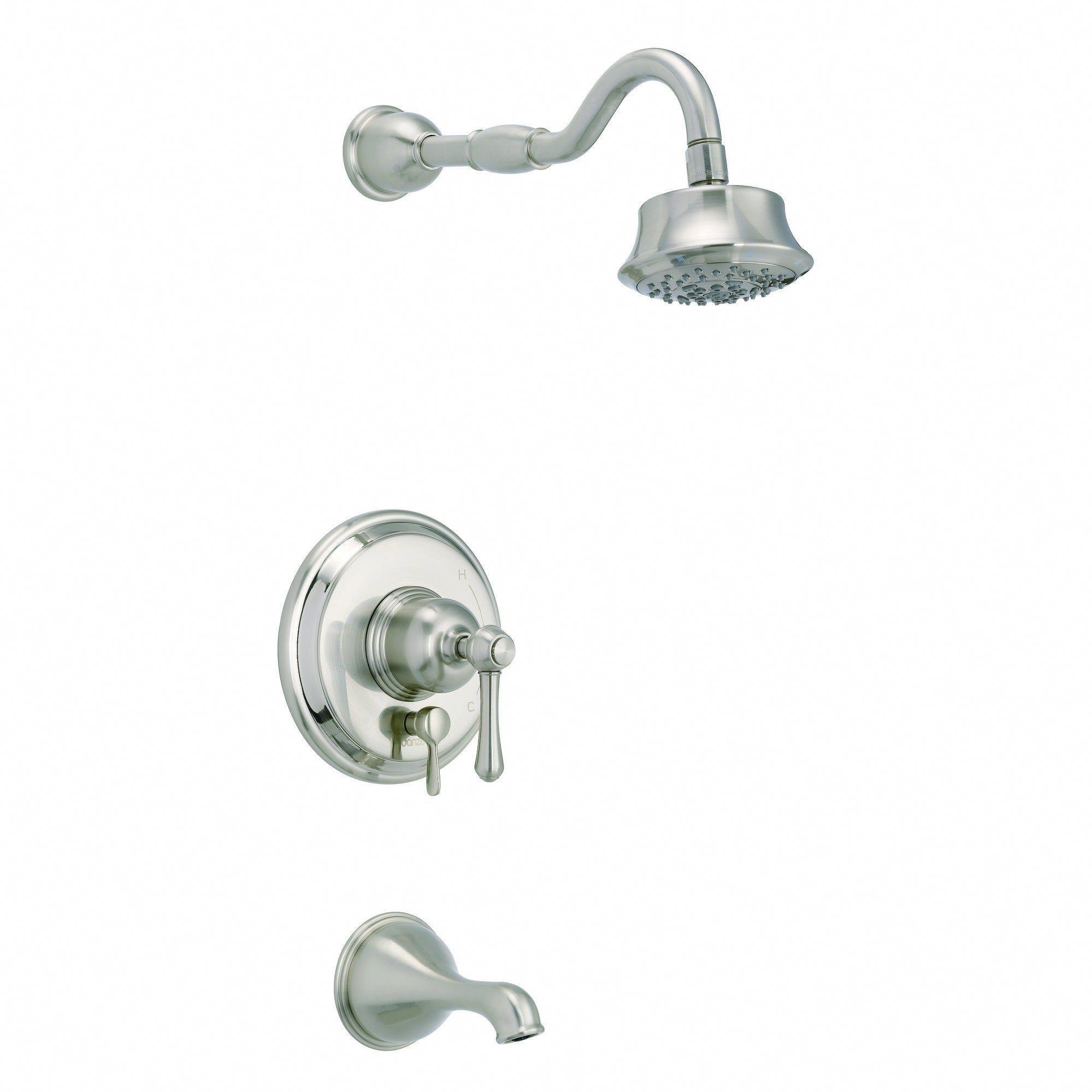 Opulence 1h Tub Shower Trim Kit Treysta Cartridge W Diverter On Valve 5 Function Showerhead 2 0gpm Brushe In 2020 Shower Tub Tub And Shower Faucets Shower Heads