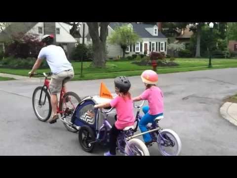 Milo And The Long Long Bike Trailer Child Bike Trailer Tag Along Bike Kids Bicycle