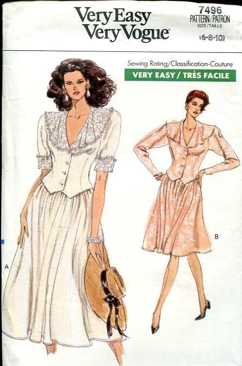 Very Easy, Very Vogue dresses | 80s - illustrations | Pinterest
