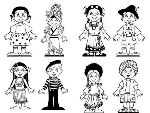 Printable #70425 Kids Coloring Children Of The World