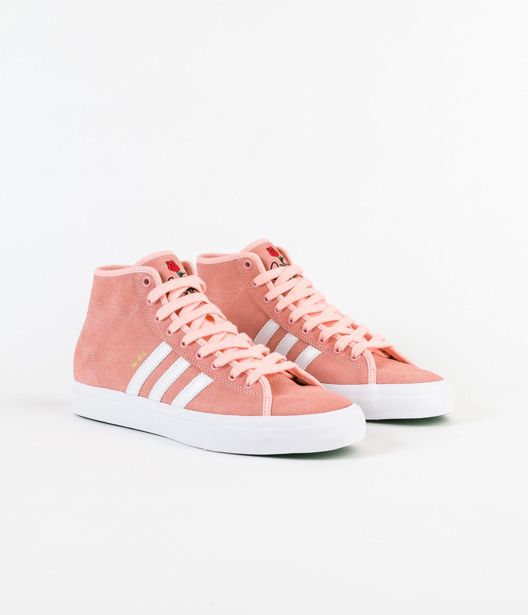 Adidas Matchcourt High RX 'Nakel' Shoes - Haze Coral / White / Haze Coral