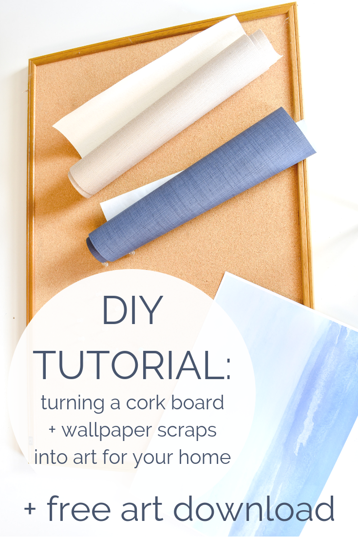 DIY Tutorial Artwork from an Old Cork Board and