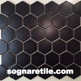 Tile Countertop Basic Black Mosaic Tiles