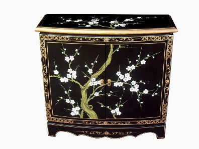 Chinese Oriental Cabinet Black Lacquer Furniture