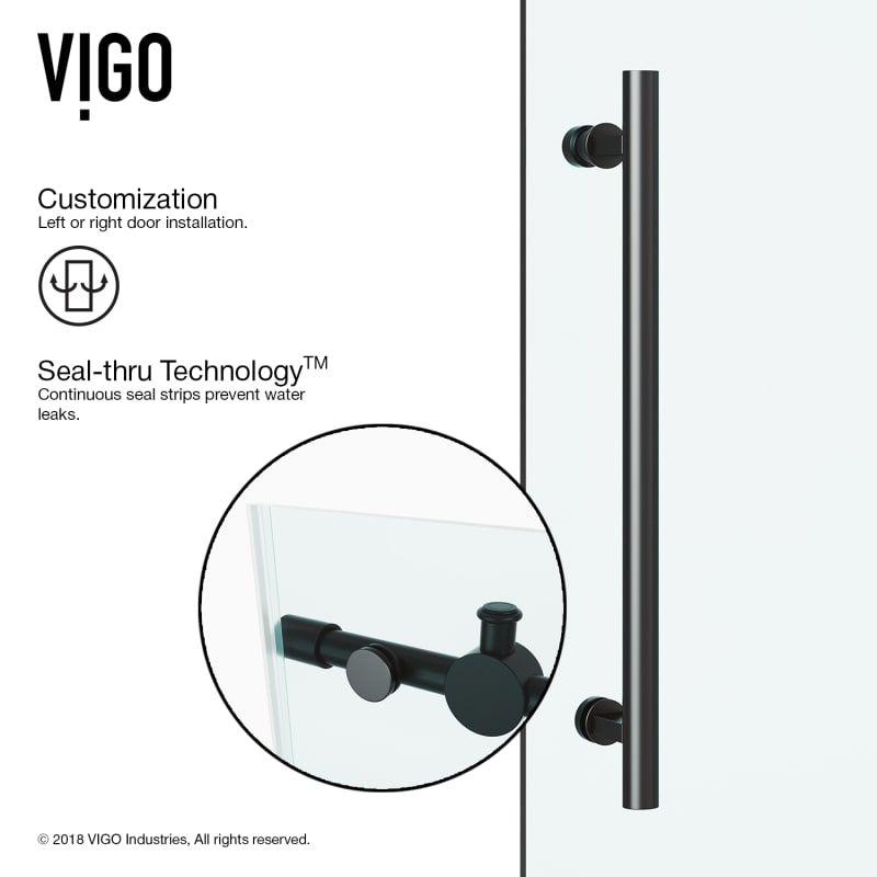 Vigo VG60416074 #framelessslidingshowerdoors