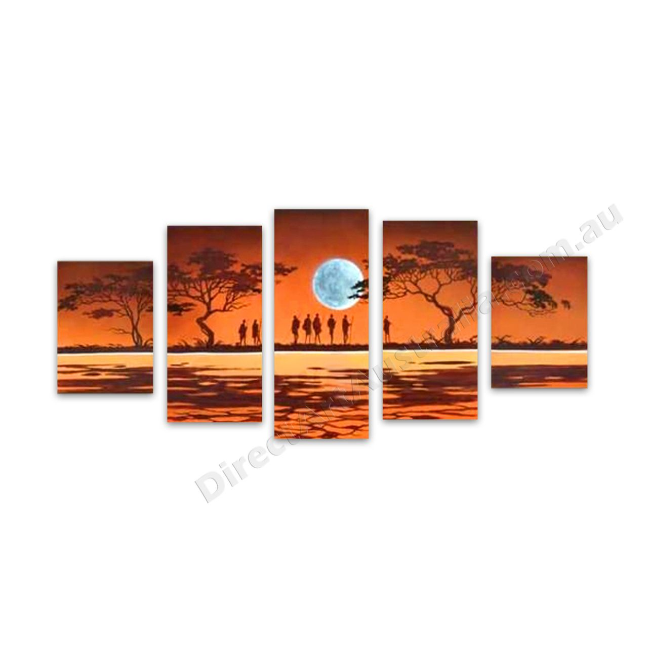Blue moon wall art australia african art and canvases
