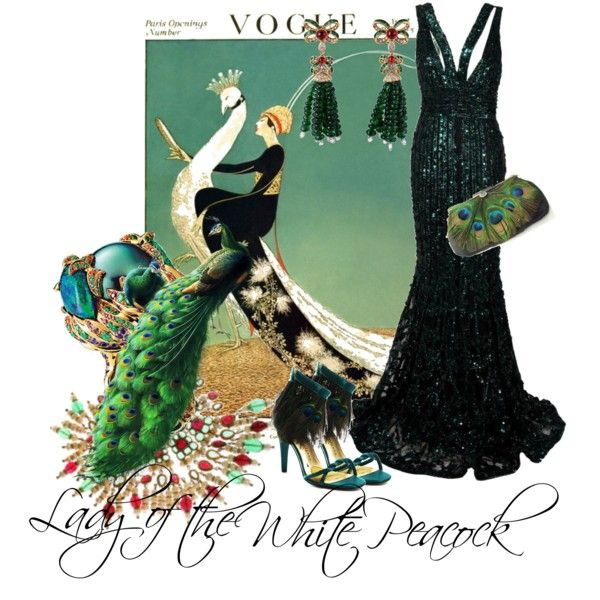 """""""Lady of the White Peacock"""" by moodycat on Polyvore"""