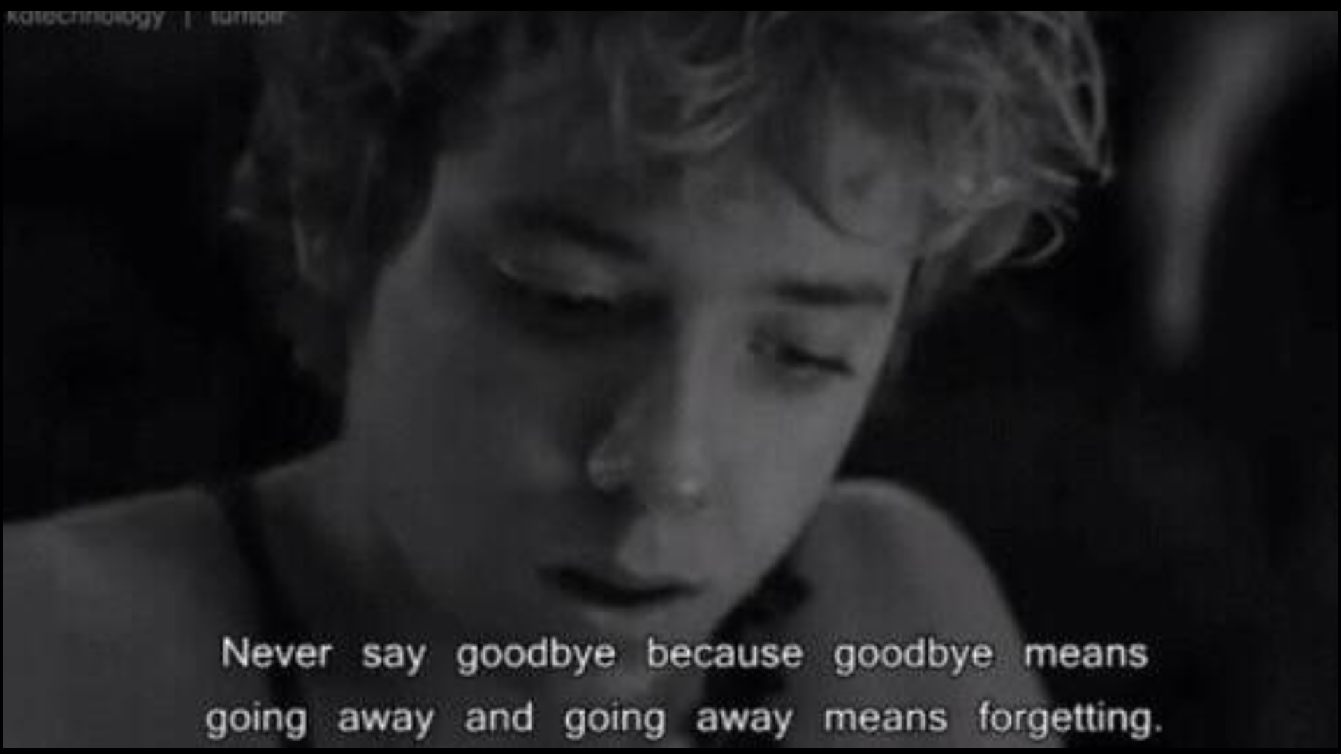 Dont Say Goodbye Say Talk To You Later Or See You Later But Never