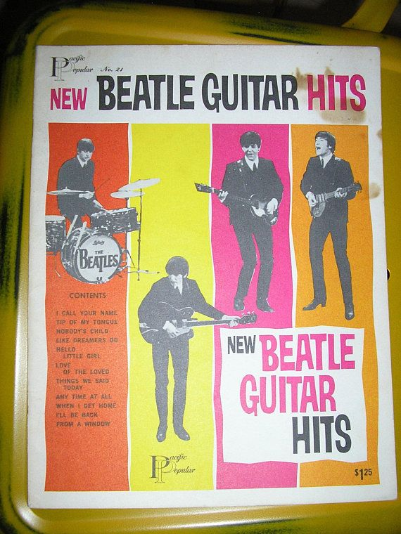 Vintage 60s Beatle Guitar Hits Pacific Popular 21 Vintage Sheet