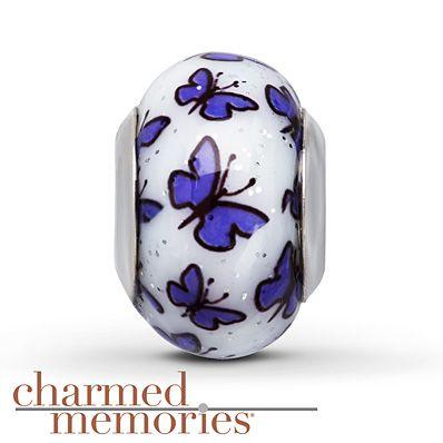 Charmed Memories Black/White Ceramic Charm Sterling Silver 6Lj0jQ