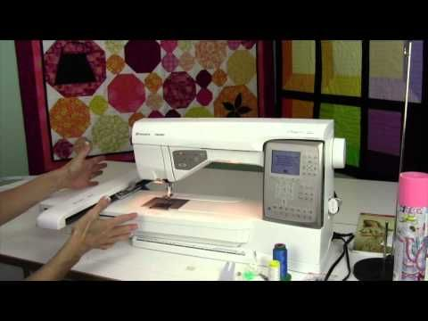 Husqvarna Viking Topaz 30 50 Embroidery Unit Set Up Youtube My