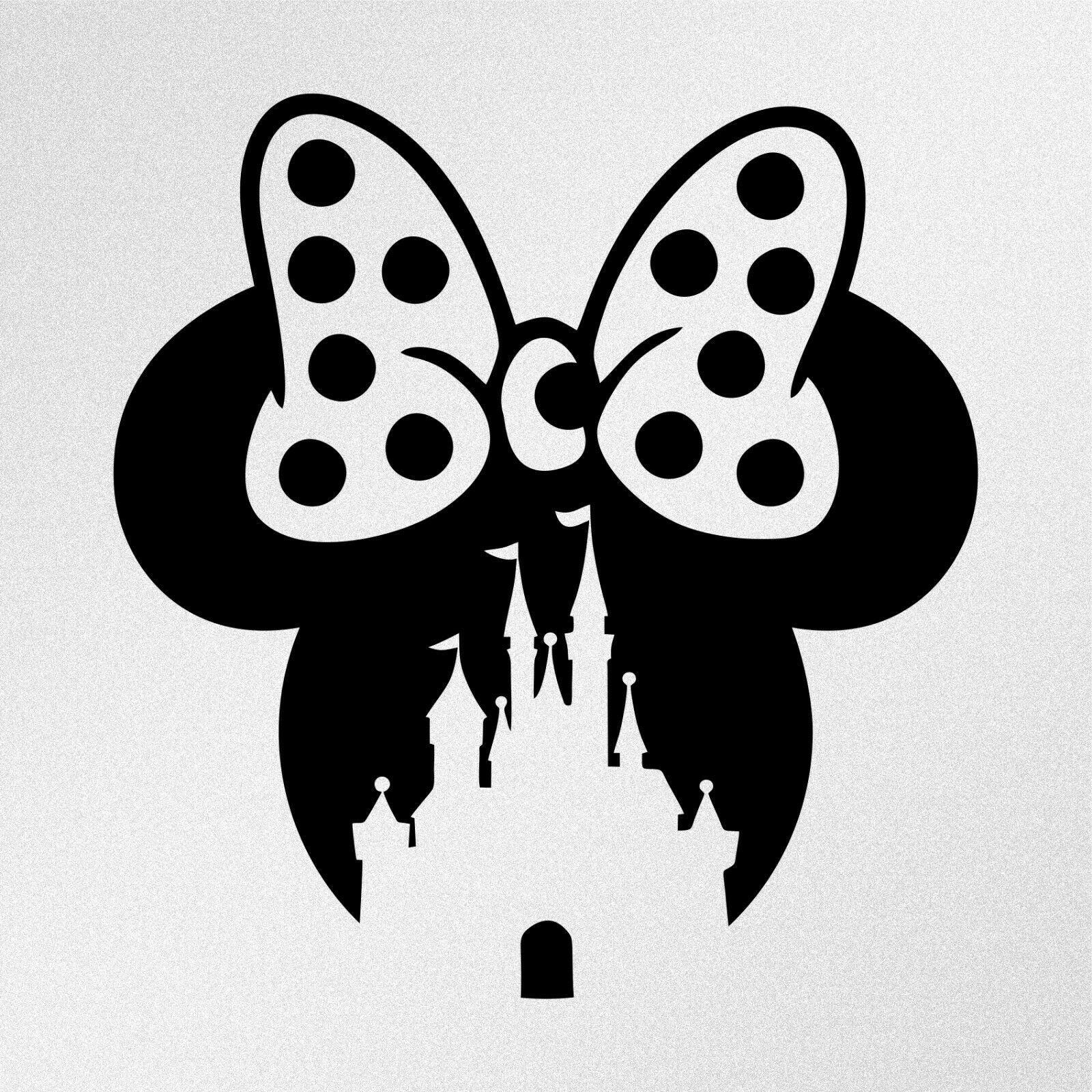 Minnie Mouse Disney Castle Car Motorbike Vinyl Decal Sticker Ebay Disney Decals Disney Sticker Disney Silhouettes [ 1600 x 1600 Pixel ]