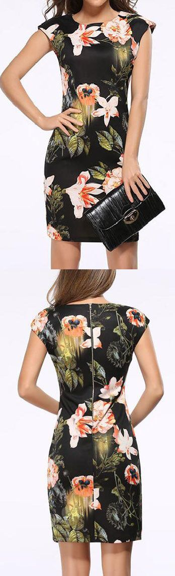Catch it now, $23.99!Free Shipping! The floral bodycon dress It is a perfect match for any occasions.More amazing pieces at Romoti.com