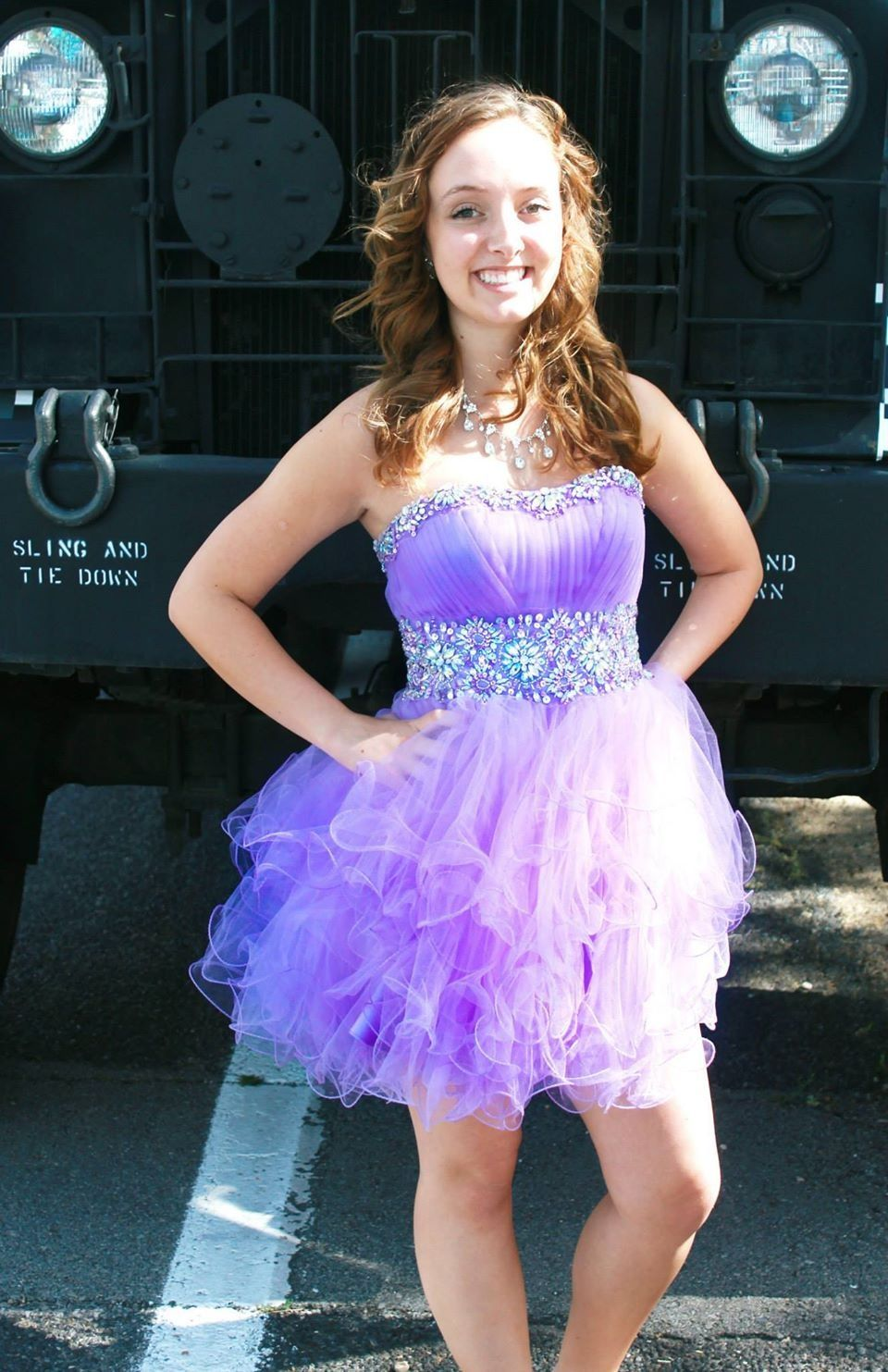 Purple Short Sparkly Prom Dress