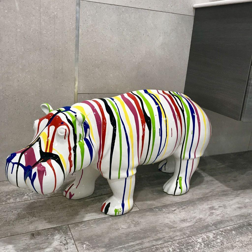 Hippopotame Trash en Résine. Animaux en résine pour une décoration ...