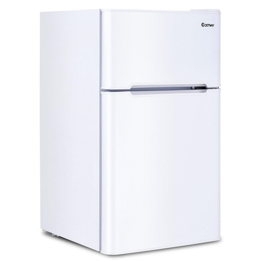 Costway 3 2 Cu Ft Mini Fridges Stainless Steel Refrigerator