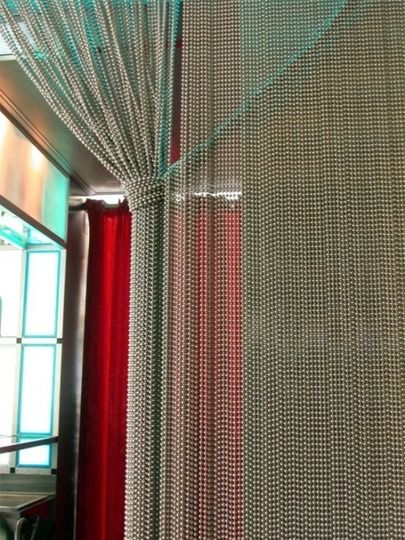 A Modern Bead Curtain Shimmer Screen Beaded Curtains Room