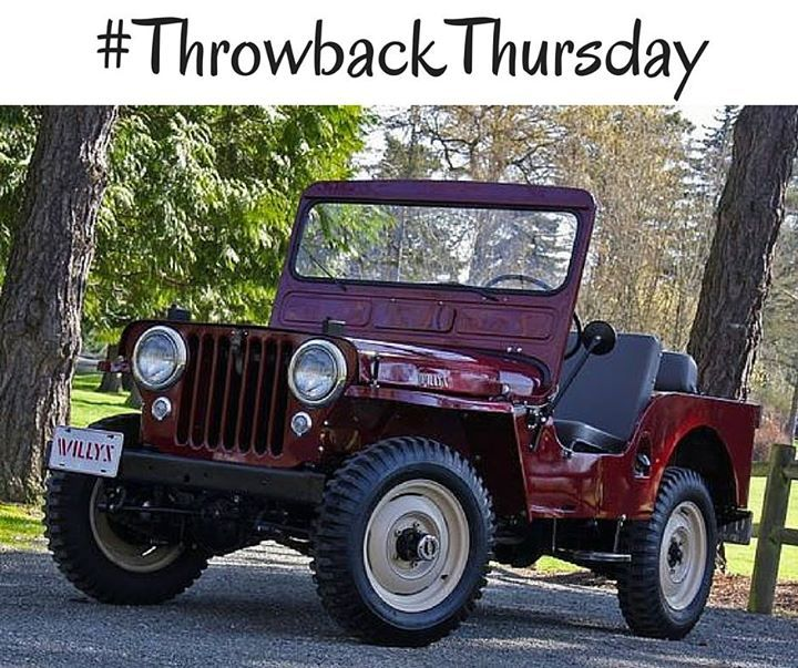 Its Hard Not To Smile When You See A Vintage #Jeep! #TBT