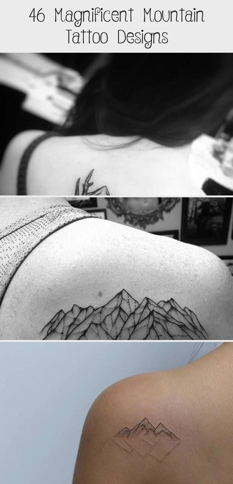 Photo of Mountains and Crescent Moon Tattoo by tattooist_dal #Watercolormoontattoos #Sunf…