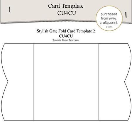 Stylish Gate Fold Card Template 2 Card Sketches Templates Templates Card Making Templates