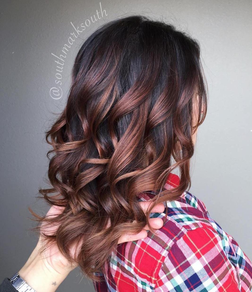 NaturalLooking Brunette Balayage Styles  Hair  Pinterest
