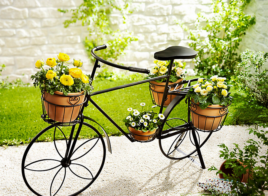Pflanzfahrrad deko fahrrad garten accessoires und - Gartendeko fahrrad ...