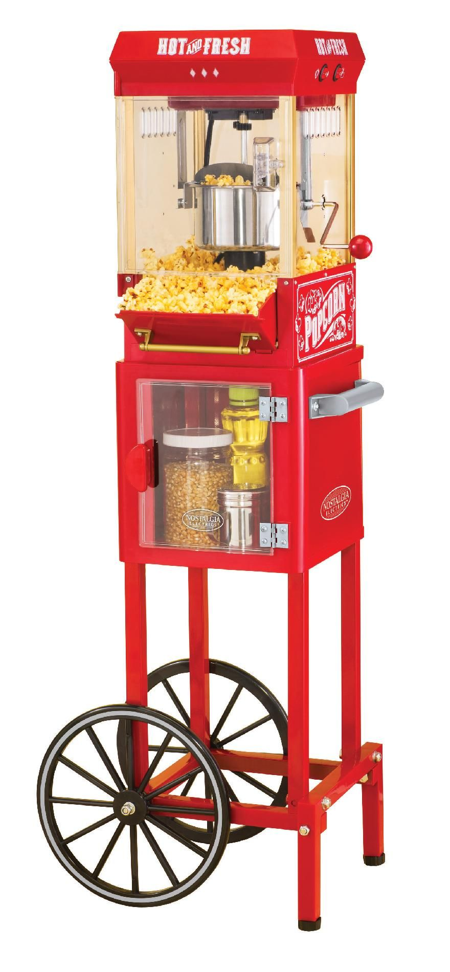 This Old Fashioned Kettle Popcorn Maker Is A Convenient, Tabletop Sized  Party Pleaser.