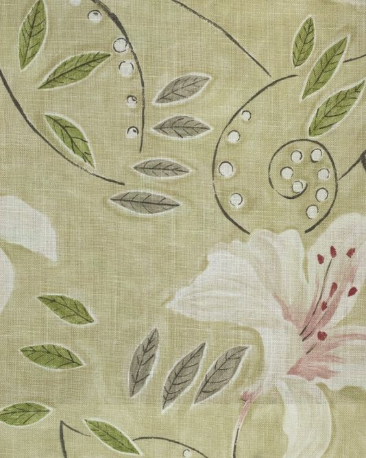 Lily Floral Curtain Fabric Angelica By Sanderson Vintage Fabric Patterns Bloomsbury Group Floral Curtains