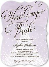 purple 0 photo bridal shower invitations wedding shower invitations shutterfly