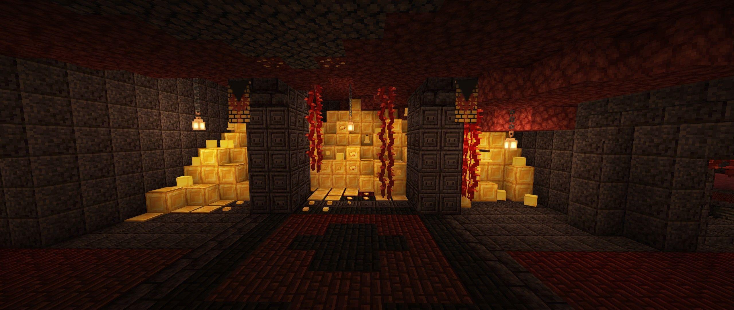 Bastion Remnant Treasure Room  Architect, Minecraft, Building