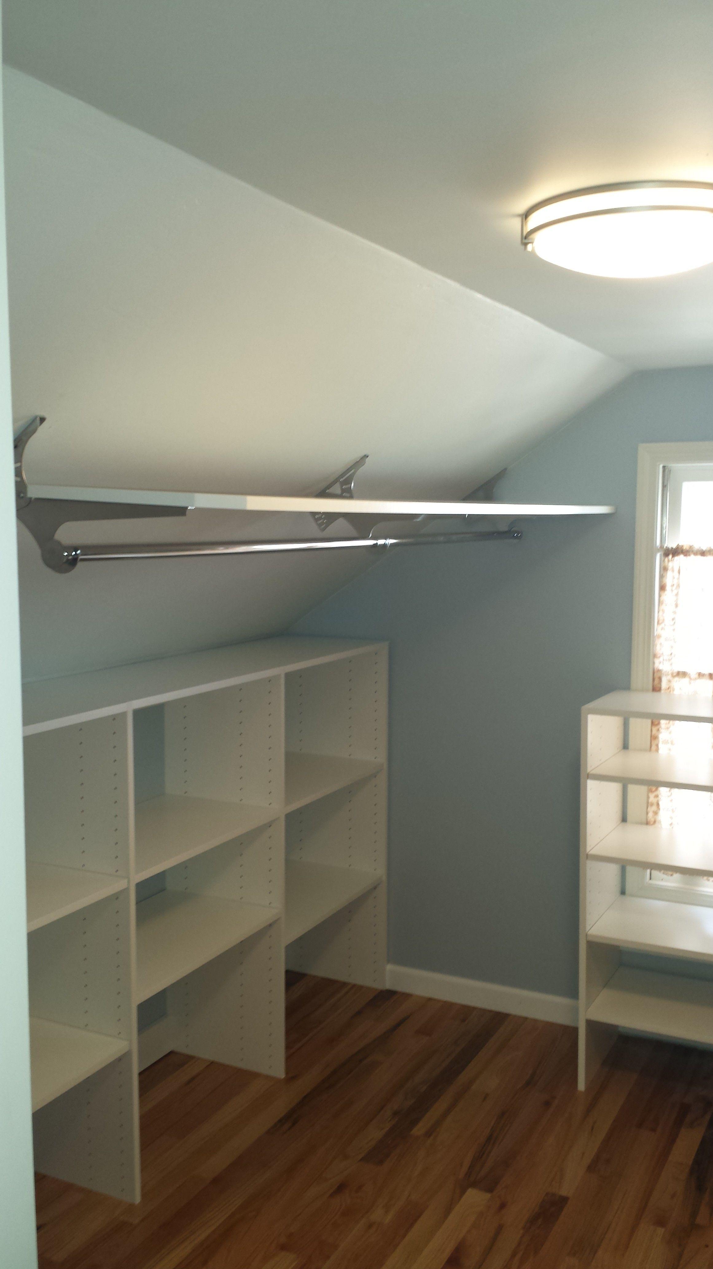 20131228 124421 E1430261491387 Jpg 2322 4128 Attic Closet Slanted Ceiling Closet Home